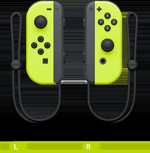 同日發售的螢光黃色 Joy-Con