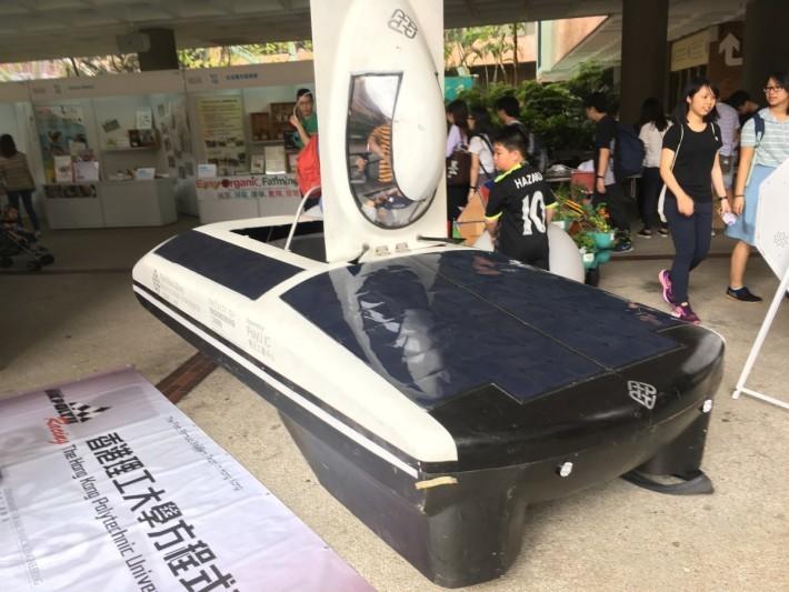 同場更展出太陽能車比賽的戰車