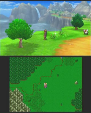 在 3D 模式的地圖裡,是以撞怪的方式進入戰鬥。當然怪獸也會主動追過來。