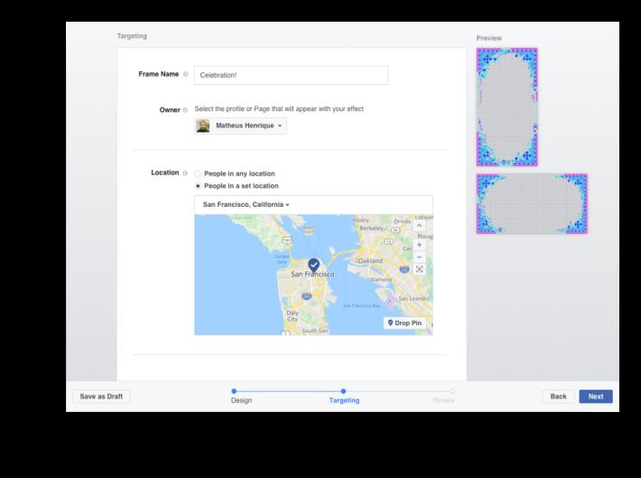 用戶可以訂出特效框可使用的期間和地區