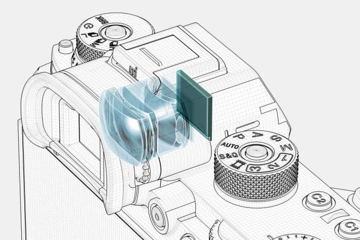 368.6 萬像素的 Quad-VGA OLED 電子觀景器刷新率可達 120fps,倍率為 0.78 。
