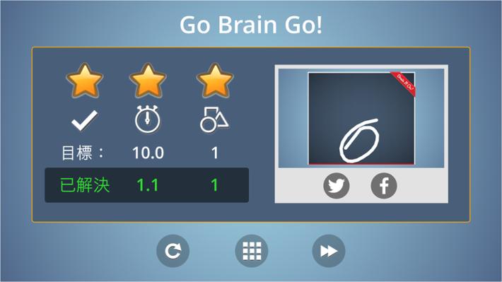 App記錄了玩家的破關方法,以及其得分。