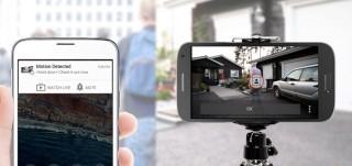 用作保安功能的動態監察,偵測到異動,會向用戶發電郵並附上 5 秒影片。