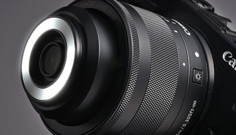 內置 LED 燈 全新 Canon 35mm 2.8 微距鏡