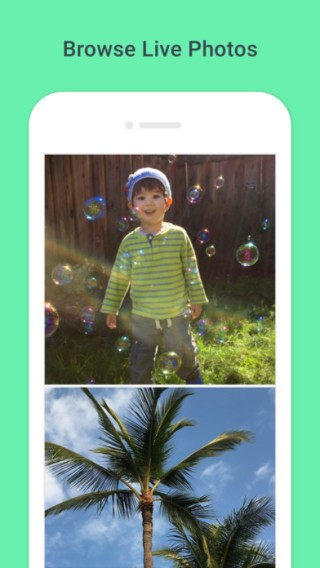 Google 的《 Motion Stills 》 App ,可以將 Live Photos 變換成 GIF 動畫,好處是方便,缺點是畫質受限亦沒有控制播放的方法。