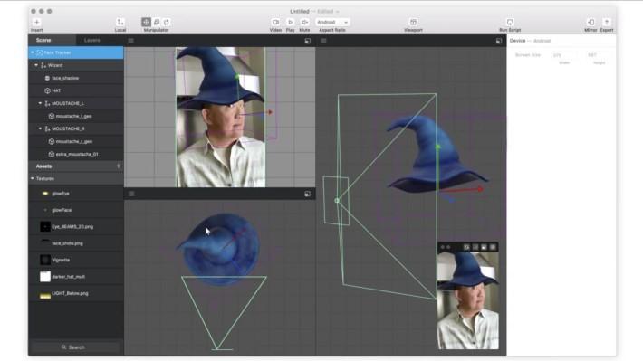 一般用戶一樣可以製作出具實時面部追踪和 3D 效果的特效