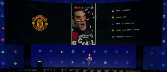 在 F8 會上, Facebook 方面表示 AR 特效備有面部追踪、腳本、數據整合、前後鏡頭可用和觸發音效功能。