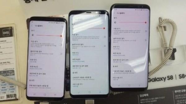 韓國方面有用戶表示 S8 手機屏幕泛紅。
