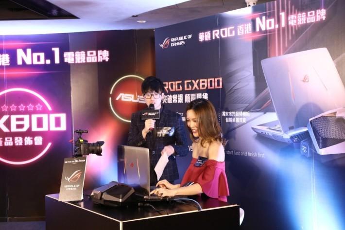 發布會特地請來網絡直播打機成名的港姐張曦雯,親身試用GX800打機。