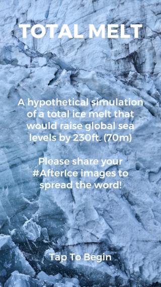 原來到了 2080 年代時全球水位會上升約 70 米