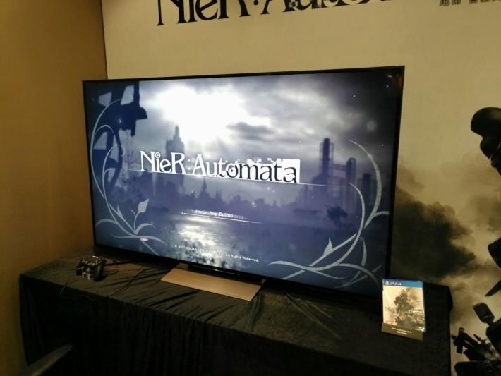 傳媒預覽會以 4K 電視作示範《NieR:Automata》。