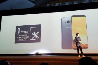 凡購買 Samsung Galaxy S8 / S8+ 的用戶,即可享一年「螢幕意外損壞保障」計劃優惠,萬一屏幕因意外損壞,只需付 $300 手續費即可更換全新屏幕。