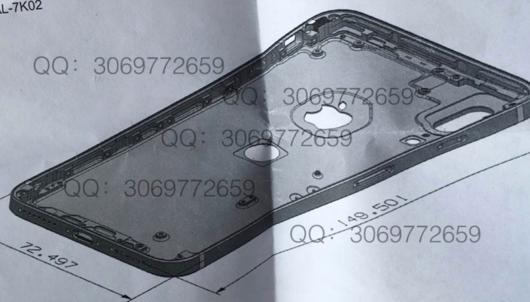 疑似 iPhone 8 機背設計圖曝光