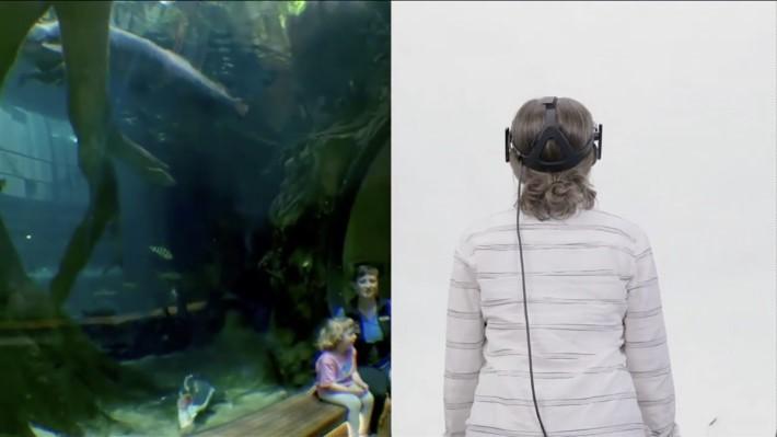 觀眾可以俯前去觀看 VR 影片,這是現在的 VR 影片做不到的,當然也要眼鏡配合。
