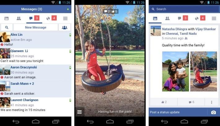 介面有點像 Facebook 手機網頁版。