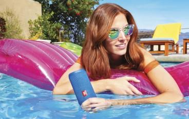 【濕住玩】夏天出海落水必備 JBL Flip 4 防水藍牙喇叭