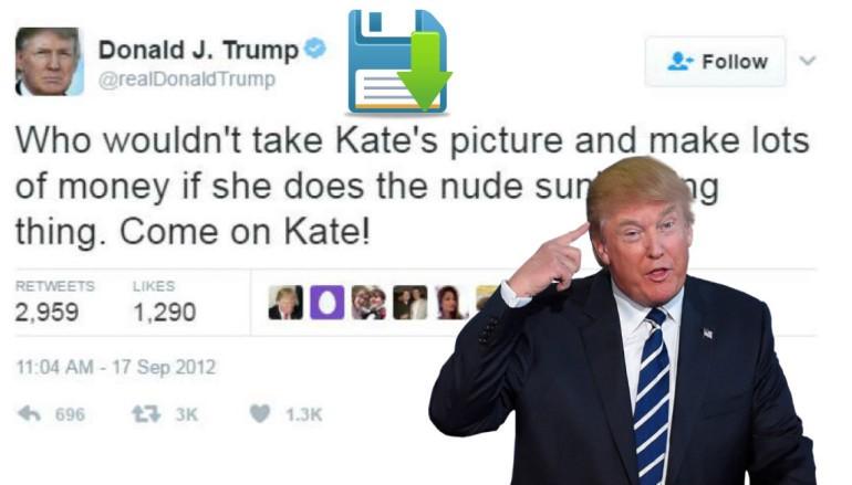 【有圖有真相】錯字或刪除都照 Keep 特朗普 Twitter Post 將被留底