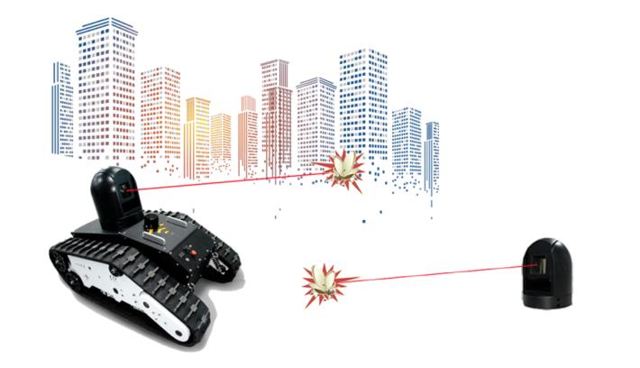 深圳市「鐳神智能」研發的激光殺蚊機械人。
