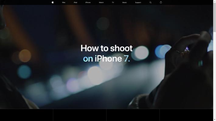 Apple 推出了 iPhone 7 攝影技巧專頁。