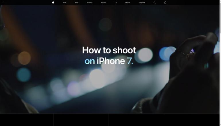 Apple 推出 iPhone 7 攝影秘笈