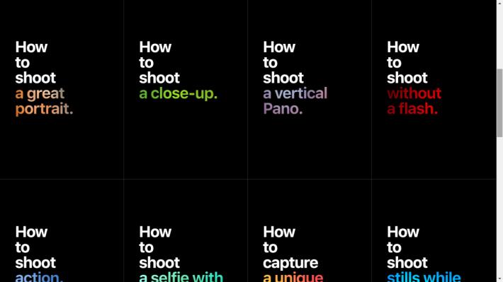 16種拍攝小技巧。就算使用其他品牌的手機也可以作為參考。