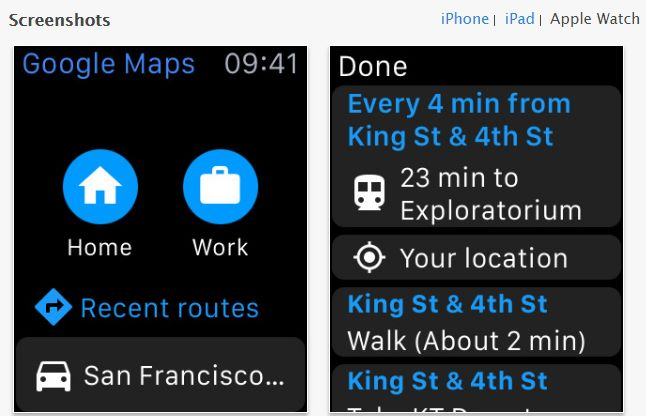 Google Map 原本透過 Apple Watch 來輔助導航。