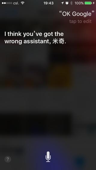 Siri 是一貫的例行答案,總之就是個機械人啦。