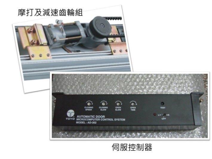在自動門移動路軌處裝上電眼或超聲頻感應器、伺服控制器等類似設備,以防止自動門在有人或物件停留在門中間時關閉。