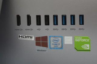 提供四組 USB 3.0 大頭,並有 HDMI 輸入及輸出介面,相當齊全。