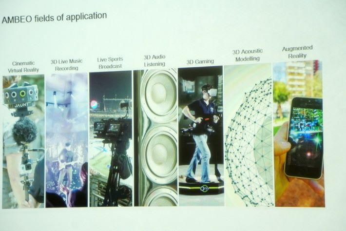 .AMBEO 的應用範圍相當廣泛,主要是配合 3D VR 技術的影片製作使用。
