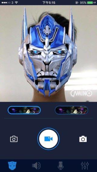 利用app 內的Face Detection 功能可以變身成柯柏文