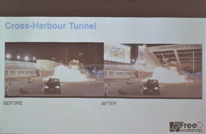 《拆彈專家》的紅隧場景,有一半是搭建,一半是 CG 後期製作。