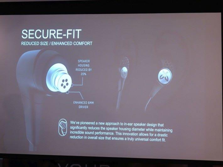 導管小約 20 % 令耳機更適合女性