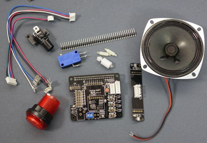 Voice Kit 套件就只有這麼多零件,不過功能就涉及最先進的人工智能和自然語音介面。