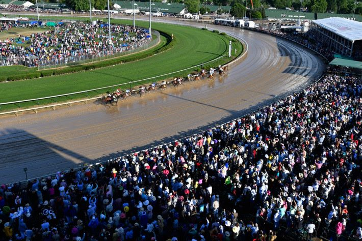 The 143rd running of the Kentucky Derby at Churchill Downs on May 6, 2017 in Louisville, Kentucky. (Bill Frakes for ESPN)