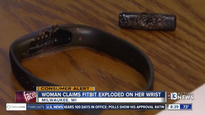 全球首宗 Fitbit 智能手環爆炸事故。