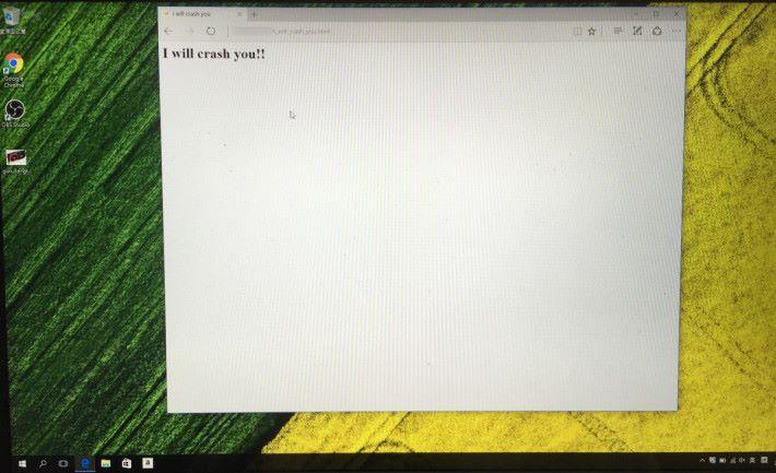 Windows 10 的 Edge 瀏覽器並沒有此問題。