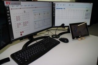 中央控制台了解整個方案的運作,如機械人去向、現有使用率等。