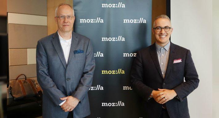 Mozilla 全球營銷總監 Jascha Kaykas-Wolff (圖左)及技術院士(Fellow)David Bryant (圖右)與我們分享未來的發展。