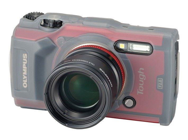 外加的遠攝鏡具有降低起霧的功能。