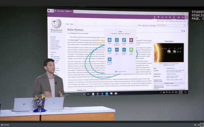 Windows 10 S 中的 Edge 瀏覽器亦會作出一些相應的功能。
