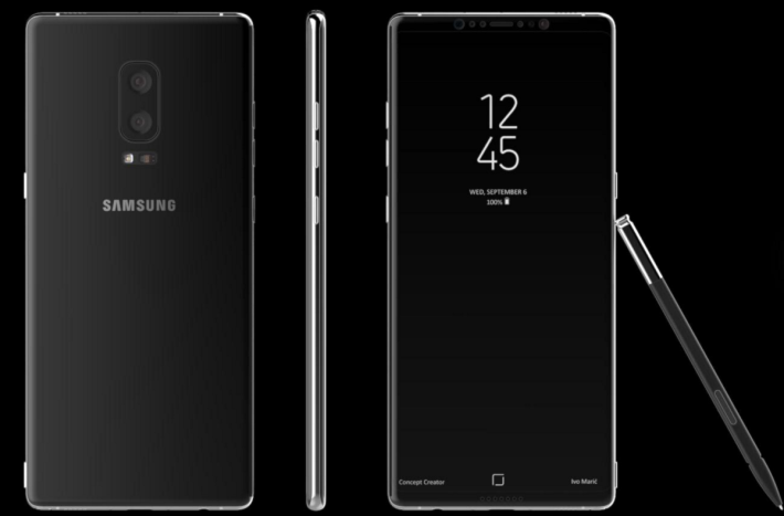 Note 8 的外觀設計 (圖片來源 : Forbes)