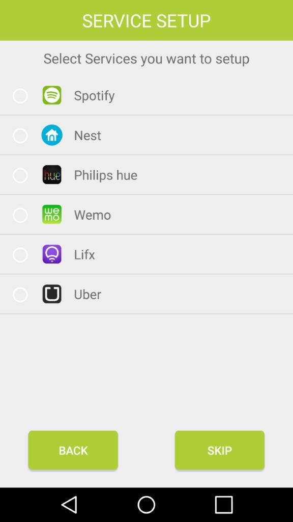應用程式整合 Spotify 、Apple Music 及 Uber 服務,方便播放音樂及叫車。