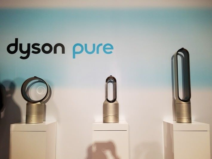 Dyson新一代的Pure系列空氣淨化風扇,共有三種款式。