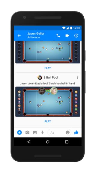 Facebook Messenger 連桌球遊戲都有,只是用手機玩,不會太細嗎?