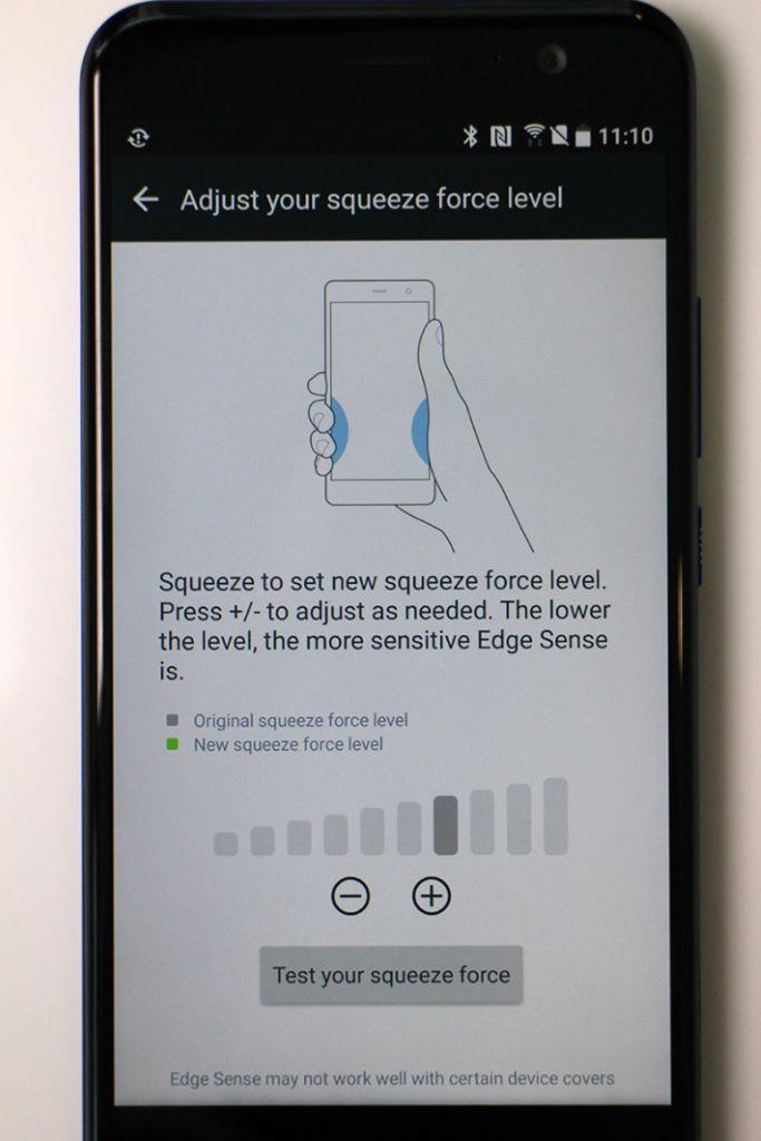 Edge Sense 備有 10 級感應壓力調校,易於找出合適的使用力度。