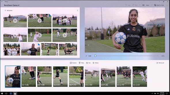 Story Remix 會利用 AI 來協助用家來創作短片。
