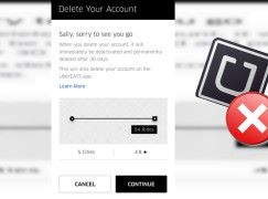 Uber 用戶終於可以自己 Delete 帳戶