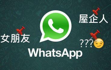 【名額有限】Whatsapp 置頂對話你點揀?