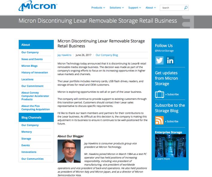 Lexar Micron Blog